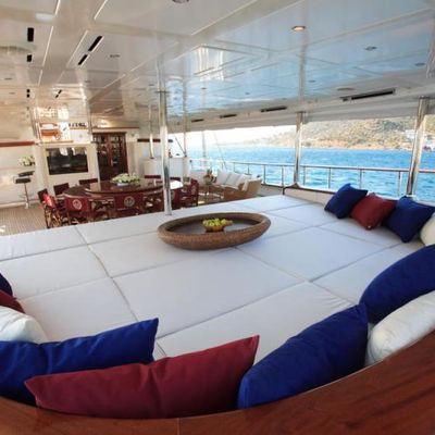 Loretta Yacht Aft Deck - Sun Pads