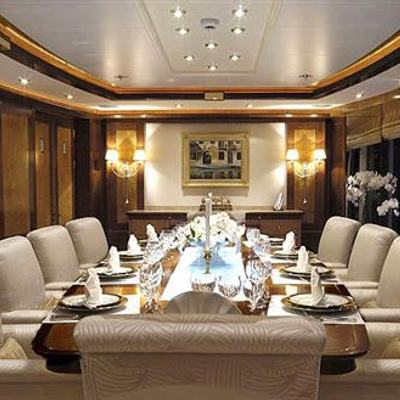 Sea Walk Yacht Dining Salon - Table View