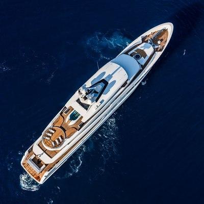 Suerte Yacht Aerial View