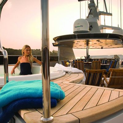 Ionian Princess Yacht Jacuzzi In use