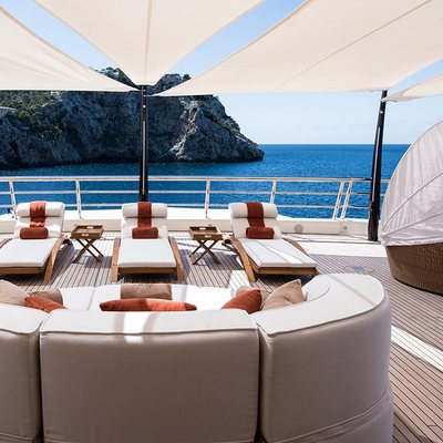 Here Comes The Sun Yacht Aft Deck Seating