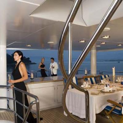 Ionian Princess Yacht Deck Staircase