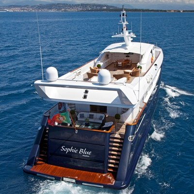 Sophie Blue Yacht Aft View