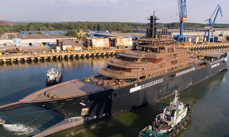 World's largest explorer yacht REV hits the water