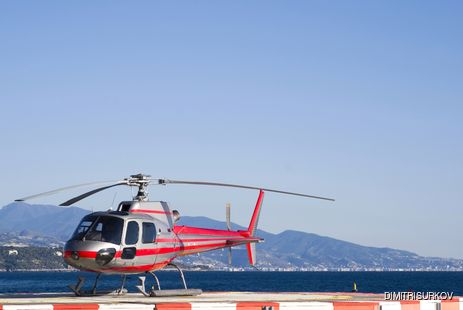 Fly into the Monte Carlo Heliport