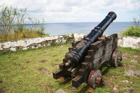 Old cannon just next to the sea