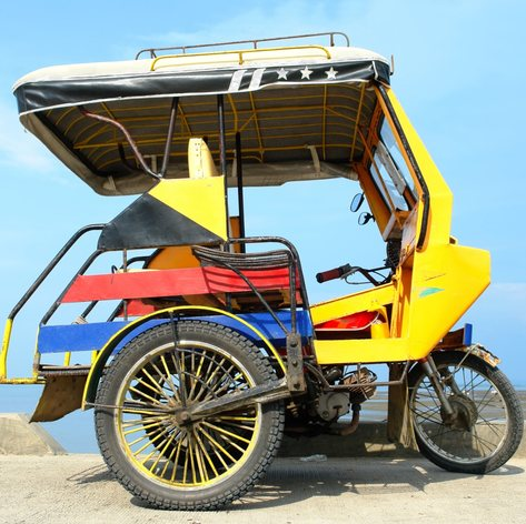 Colourful tricycle in Philippines