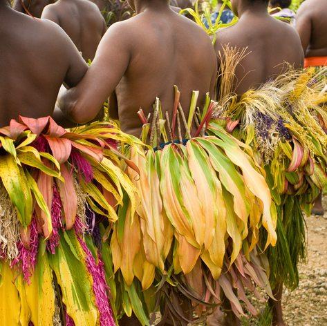 Traditional dancers celebrate