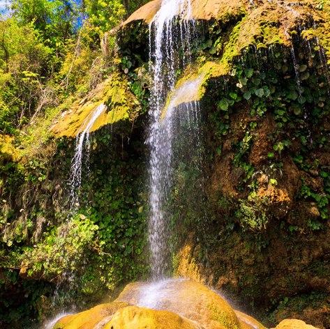 Amazing natural waterfall in Cuba