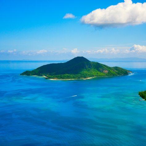 Calm exotic beach resort on the island