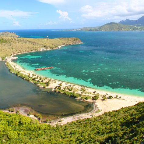 Beautiful view of bay in Saint Kitts