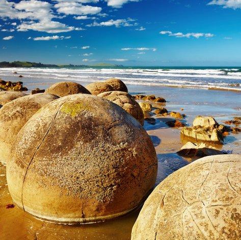 See the Famous Moeraki Boulders on a New Zealand Luxury Yacht Charter