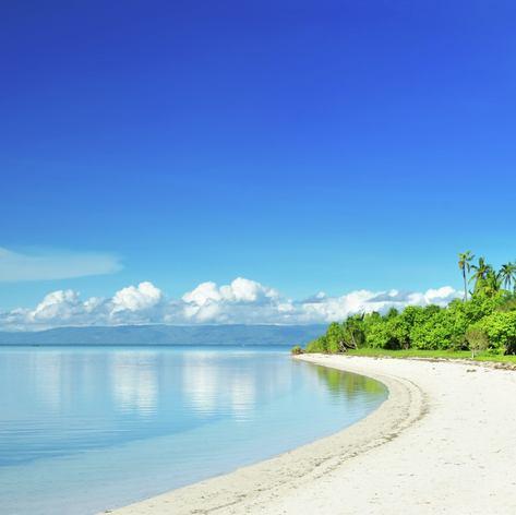 Empty white tropical beach