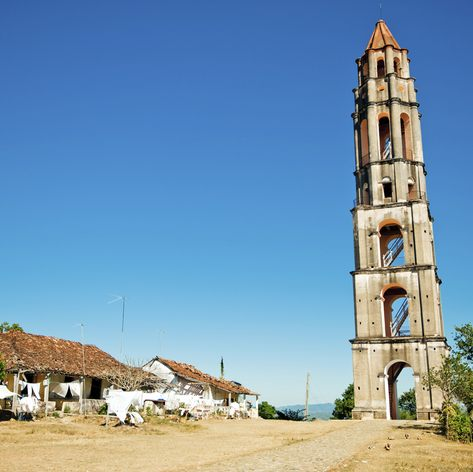 An old tower in Trinidad, Cuba