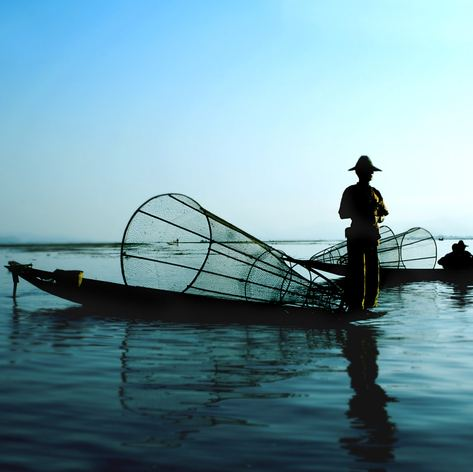 Fishermen on the water