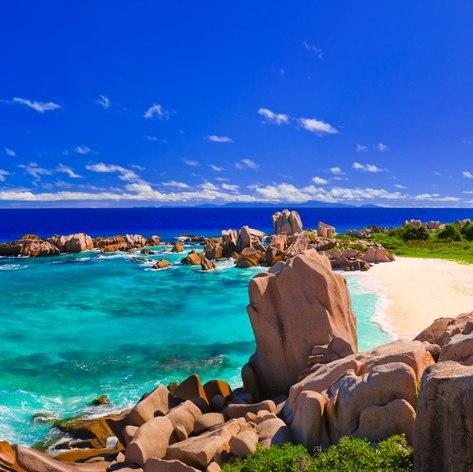 Magic coast at Seychelles