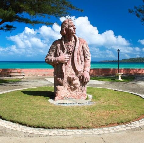 Memorial statue in Cuba