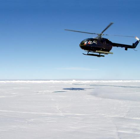 Helicopter in the Arctic