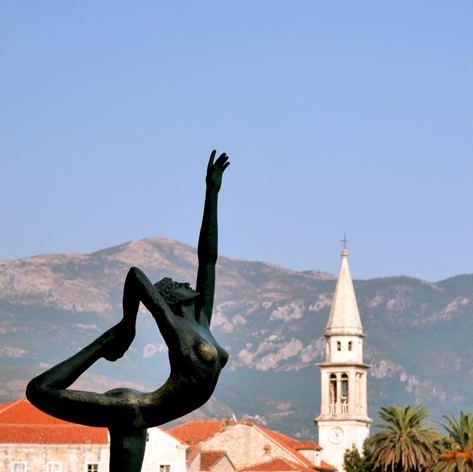 Statue on the Coastline of Budva