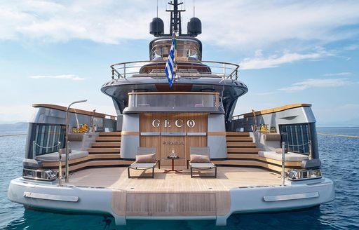 swim platform on luxury yacht geco