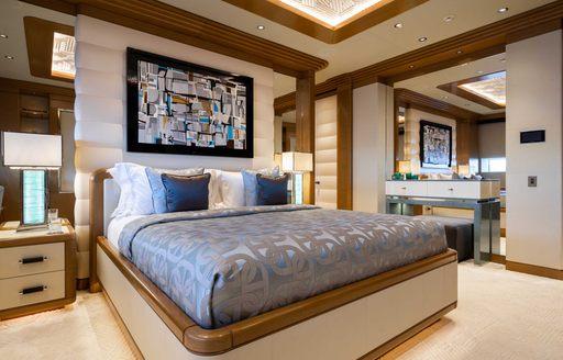guest cabin on luxury yacht lana