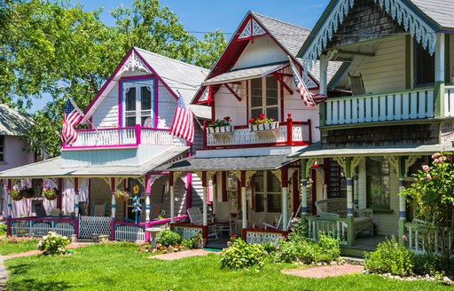 gingerbread houses on marthas vineyard in new england