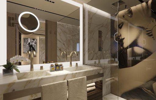 en suite on luxury yacht geco