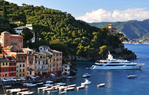 Yacht in the bay of portofino
