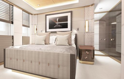 Light and airy cabin on superyacht MOSKITO