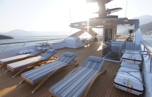 baba's sunloungers on sundeck