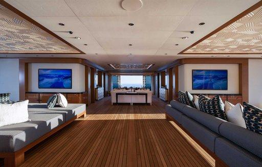 main salon on benetti motor yacht lana