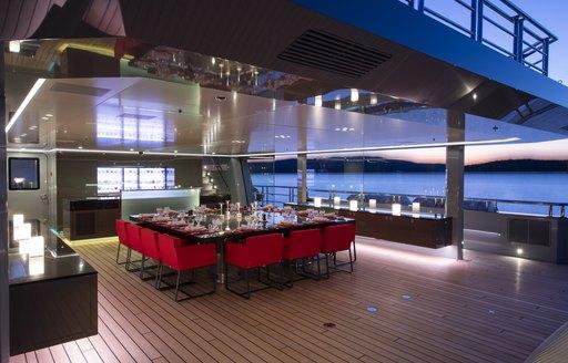 wintergarden on luxury yacht bold