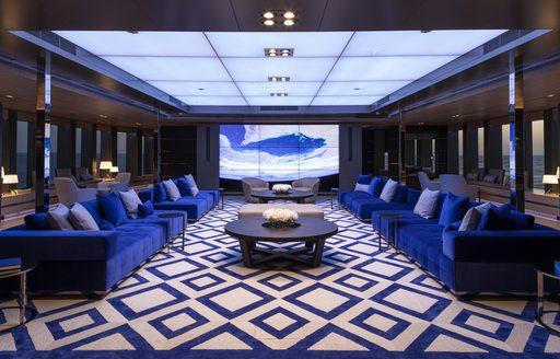 wintergarden deck on bold luxury yacht