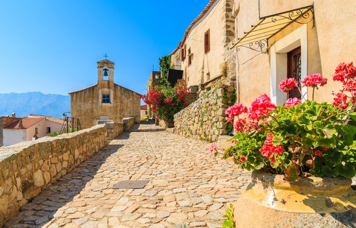little town on the french island of corsica