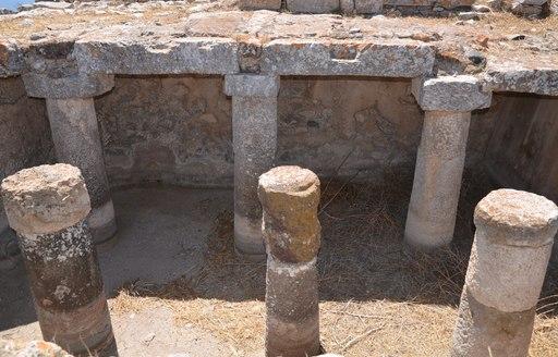 Ancient pillars of ancient Thera
