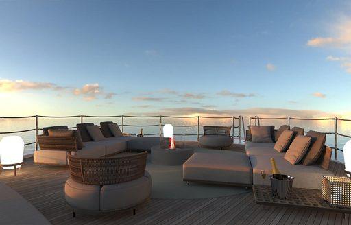 deck of superyacht geco
