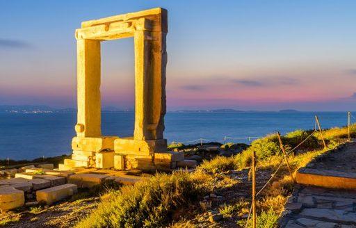Archways in Naxos, Greece