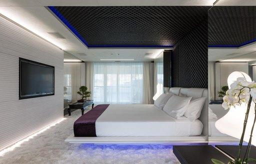 superyacht ocean paradise's master suite