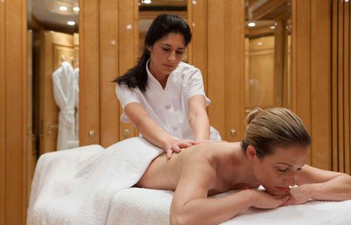 Massage room onboard St David