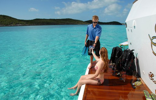 scuba diving on superyacht sweet escape