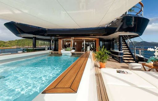 Motor yacht SOLANDGE design features an incredible selection of facilities