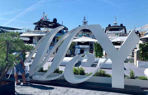 Signage at Cannes Yachting Festival 2019