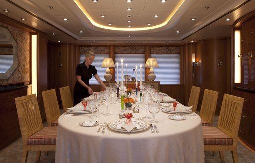 luxury yacht OASIS's dining room