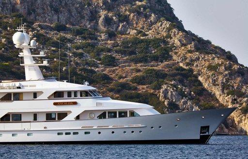 charter yacht ANCALLIA cruising on charter