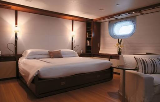 sophisticated master suite on board superyacht ROSEHEARTY