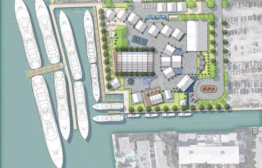 Rendering of yachts at FLIBS 2019