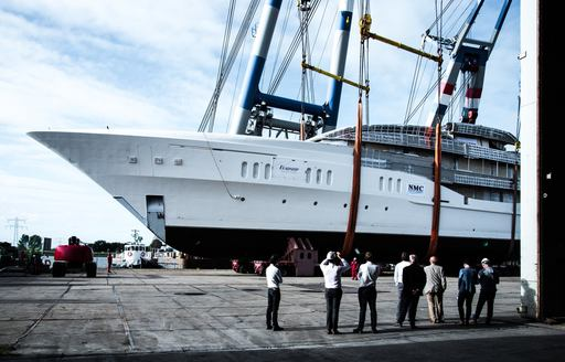Feadship superyacht Project Galina, formerly Feadship 819, now ready for outfitting photo 4