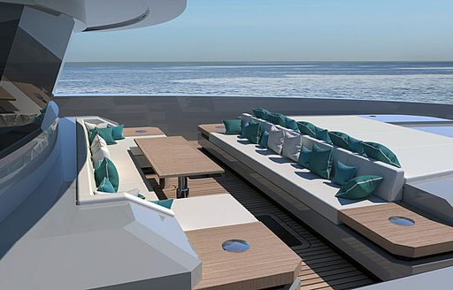 Outdoor area on Explorer yacht EMOCEAN