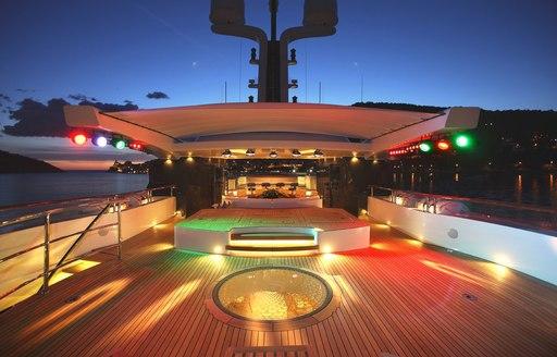 Dance floor onboard St David