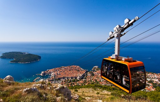 City of Dubrovnik in Croatia, looking out over the Mediterranean sea